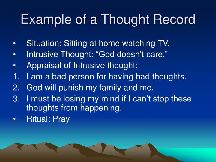 Example of a Thought Record