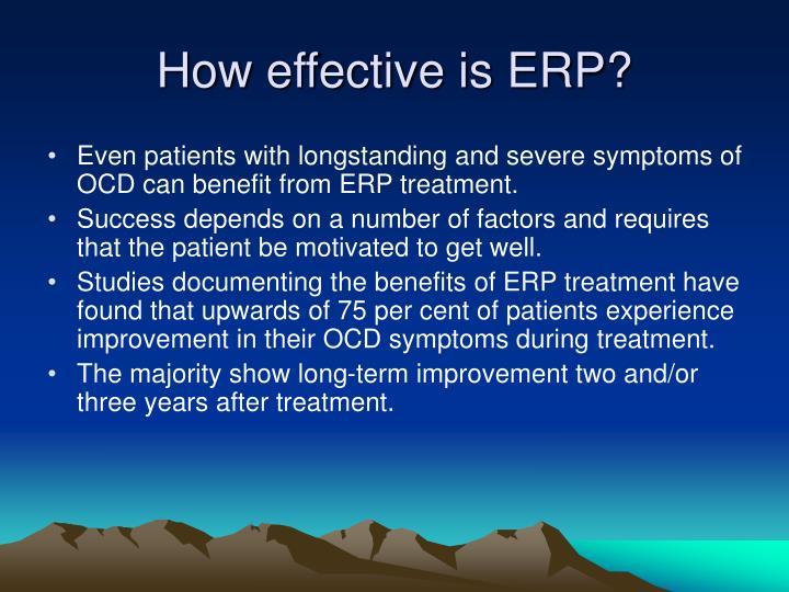 How effective is ERP?