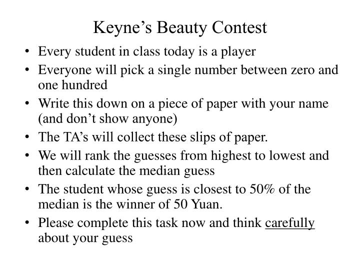 Keyne's Beauty Contest