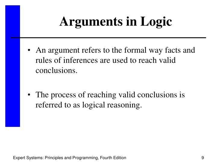 Arguments in Logic