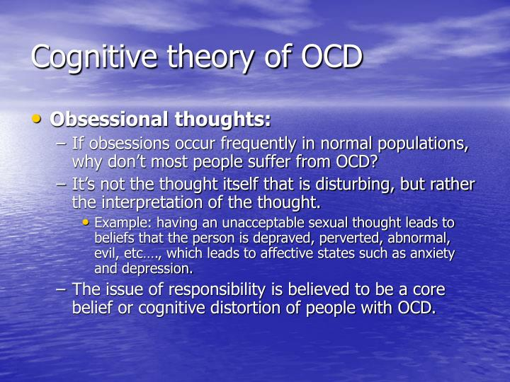 Cognitive theory of OCD