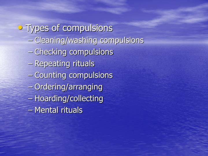 Types of compulsions