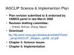 iasclip science implemention plan