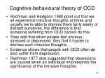 cognitive behavioural theory of ocd