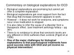 commentary on biological explanations for ocd