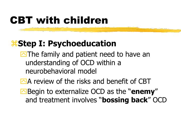 CBT with children