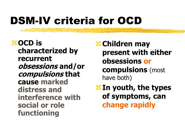OCD is characterized by recurrent