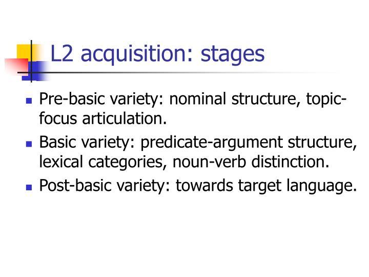 L2 acquisition: stages
