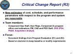 critical change report r3
