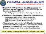 fy09 ndaa sasc bill sec 802 would make life very difficult not law yet