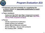 program evaluation e2
