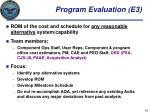 program evaluation e3