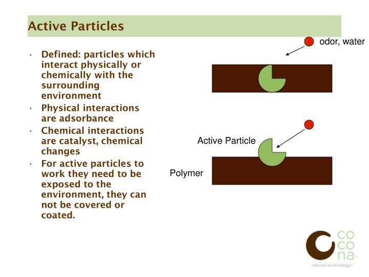 Active Particles