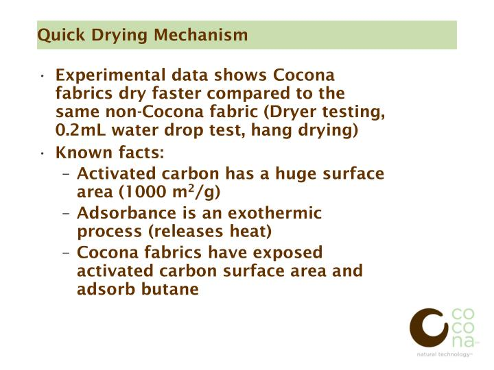 Quick Drying Mechanism