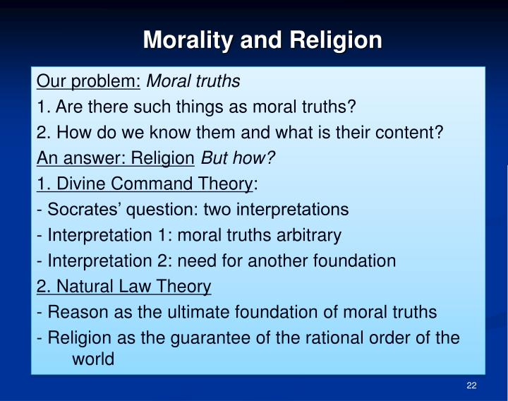 """socrates shattering of the moral concept of divine command theory In her influential paper, """"modern moral philosophy,""""  a divine law requires the  existence of god, as the  moreover, according to donagan, even if we conceive  of morality as aristotle did, namely,."""