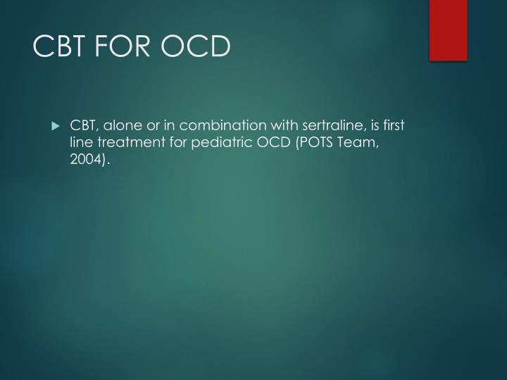 CBT FOR OCD