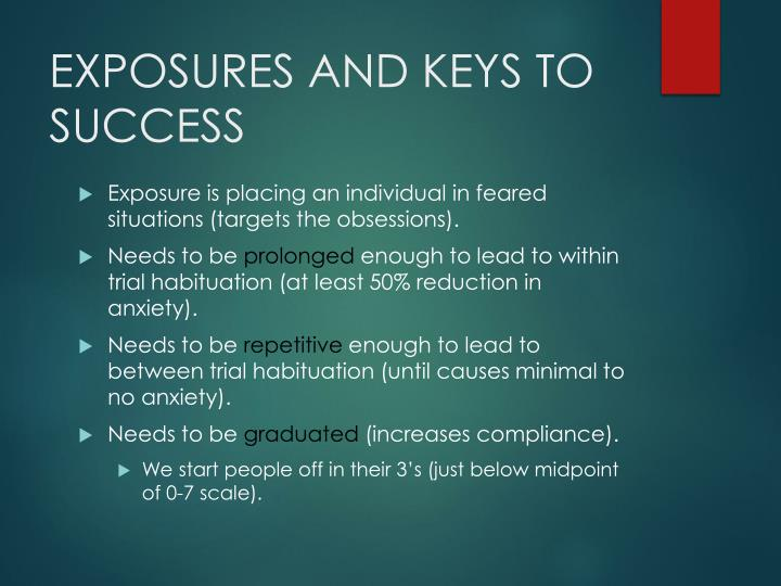 EXPOSURES AND KEYS TO SUCCESS