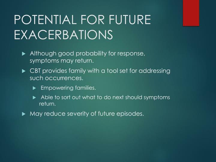 POTENTIAL FOR FUTURE EXACERBATIONS
