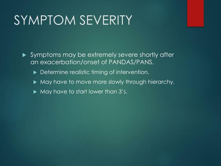 SYMPTOM SEVERITY