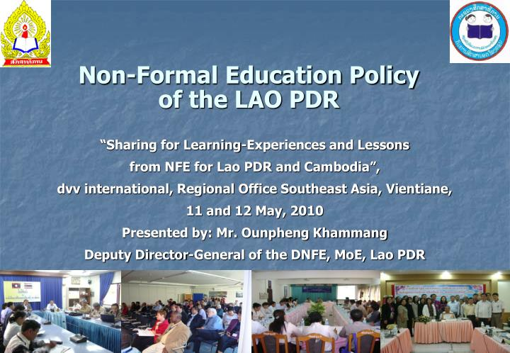 Non formal education policy of the lao pdr