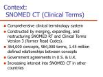 context snomed ct clinical terms