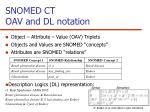 snomed ct oav and dl notation