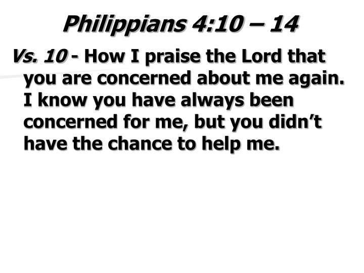 Philippians 4 10 14