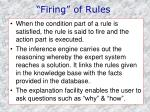 firing of rules