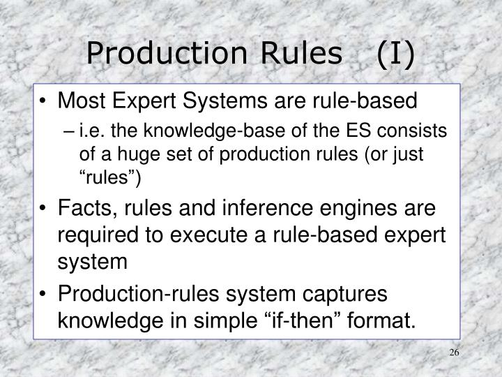 Production Rules   (I)