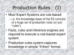 production rules i