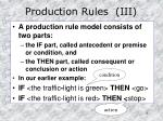 production rules iii
