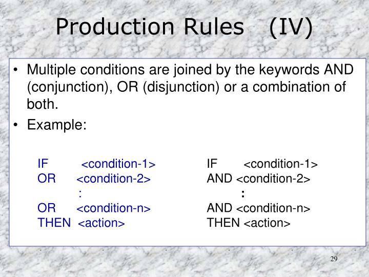 Production Rules   (IV)