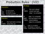 production rules vii