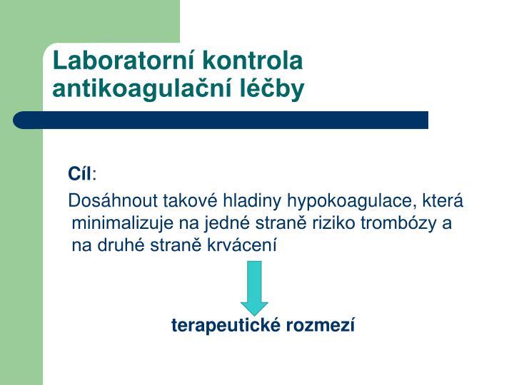 Laboratorn kontrola antikoagula n l by1