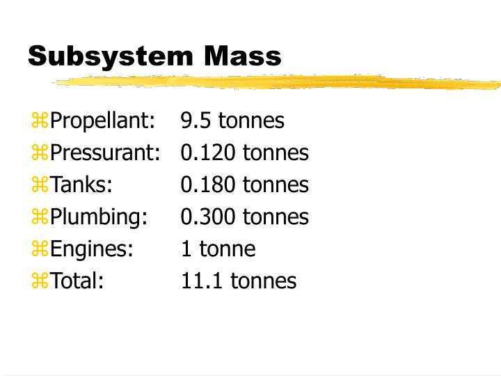 Subsystem Mass