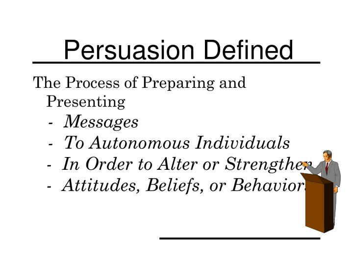 Persuasion defined
