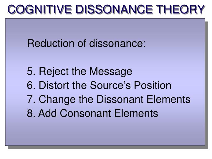 COGNITIVE DISSONANCE THEORY