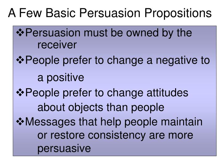 A Few Basic Persuasion Propositions
