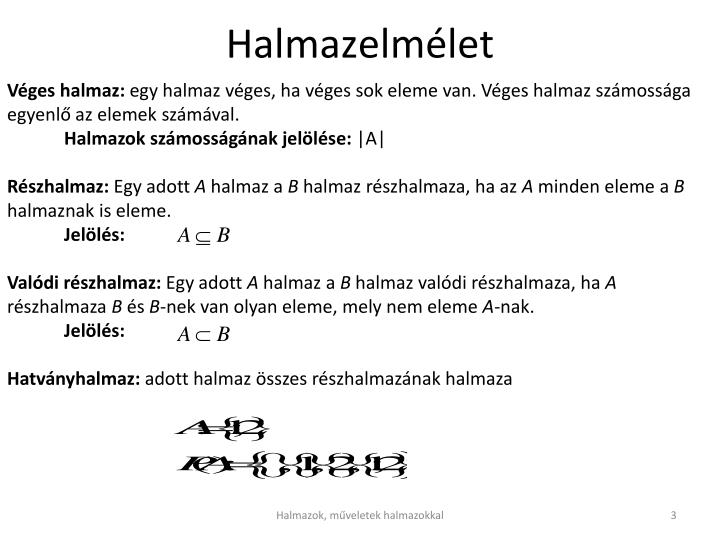Halmazelm let1