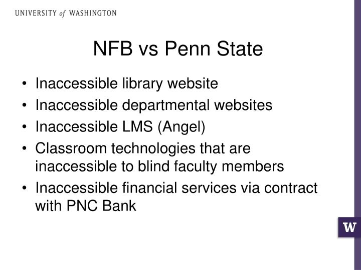 NFB vs Penn State