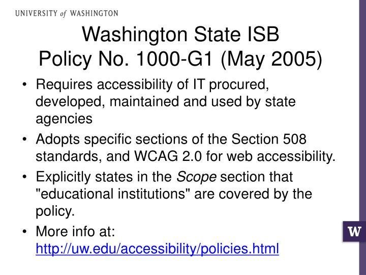 Washington State ISB