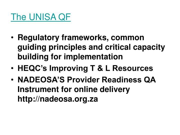 The UNISA QF