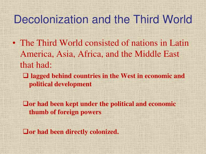 Decolonization and the third world
