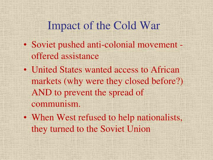 Impact of the Cold War