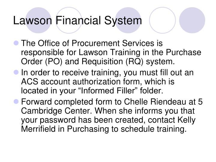 Lawson Financial System
