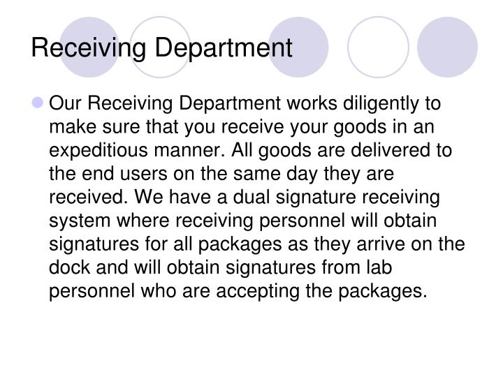 Receiving Department