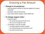 ensuring a fair amount2