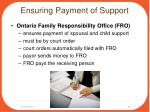 ensuring payment of support1