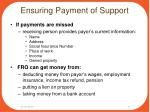 ensuring payment of support2
