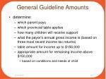 general guideline amounts